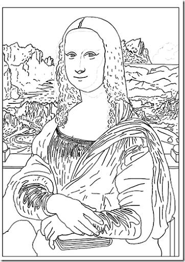 La Mona Lisa coloring pages   Coloring Pages